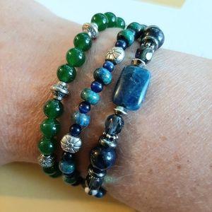 Set of 3 handmade beaded bracelets